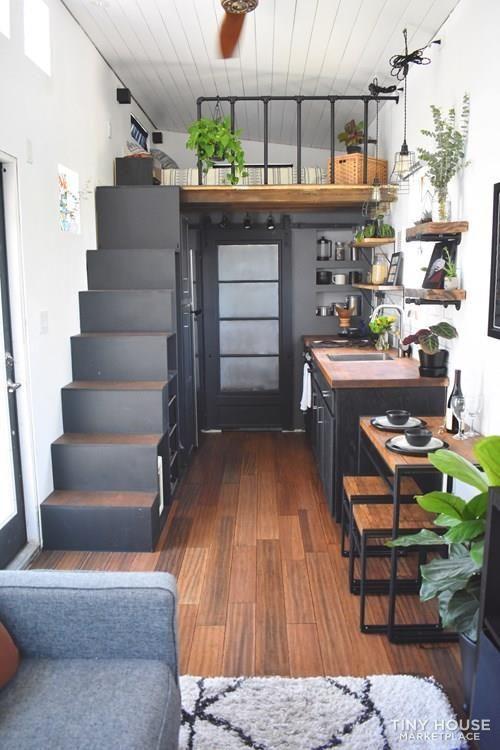 self built tiny home loft