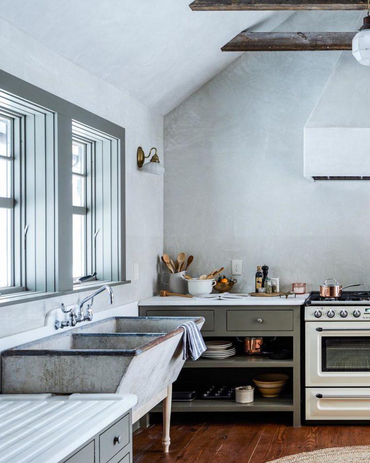 grey vintage kitchen design