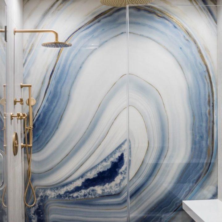agate realistic waterproof bathroom wallpaper