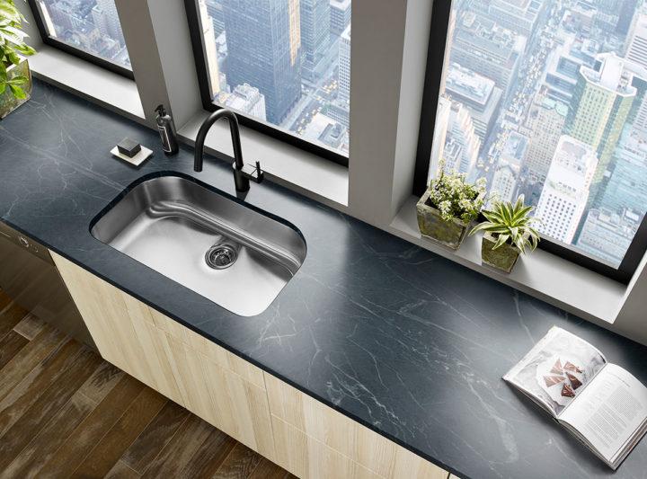 modern kitchen with black Soapstone countertop