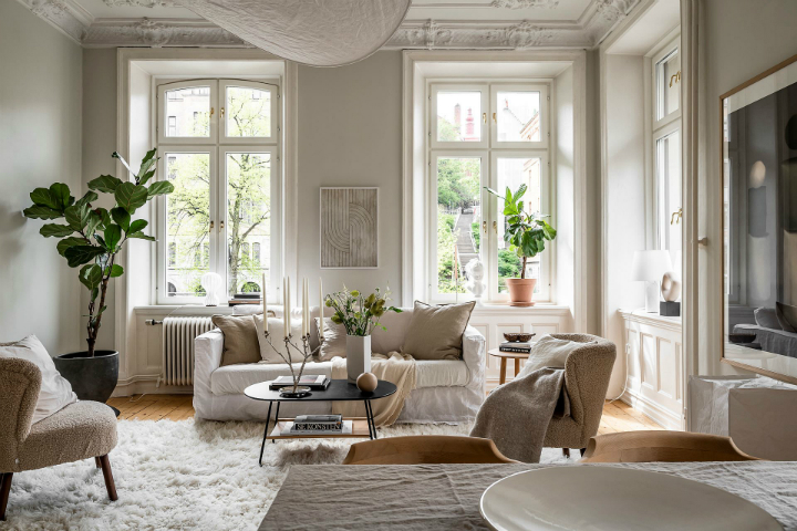 Charming Scandinavian Apartment Interior Decorated In Earth Tones