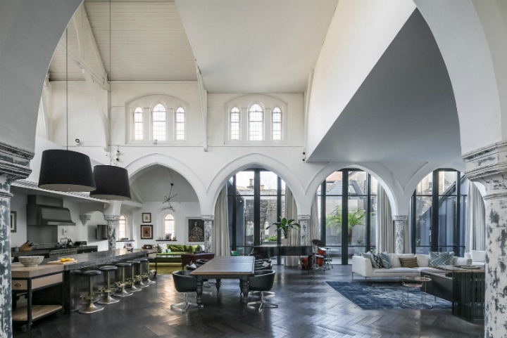 Gothic Church Turned Into A Four-bedroom Home