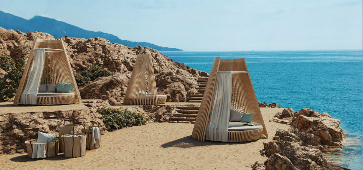 Lounge Bed Hut by Ethimo