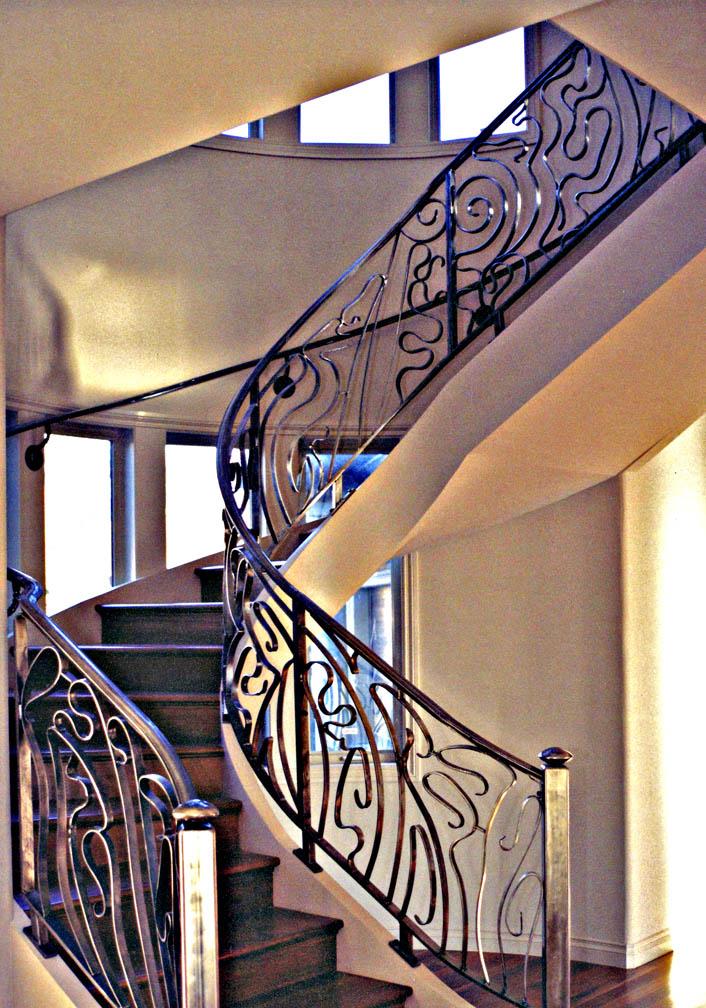 metal Art Nouveau Spiral Stair Rail