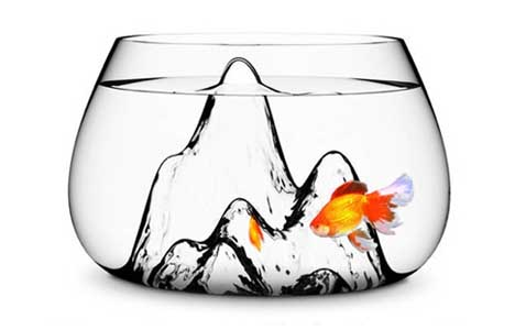 Handmade Glash Fishbowl by Aruliden