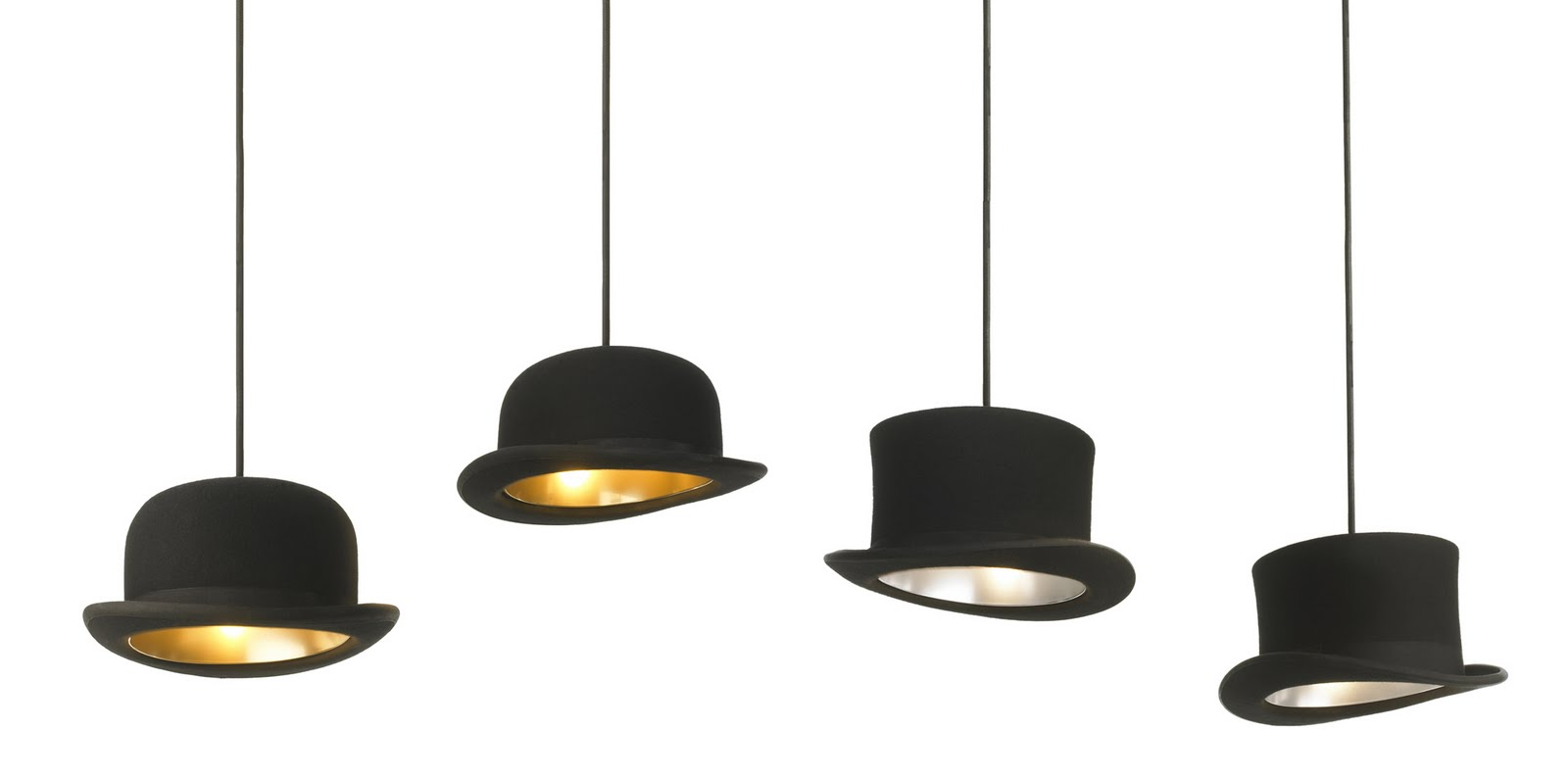 Jeeves and Wooster Hat Pendant Lights