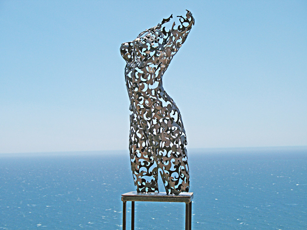 Topographic Emotions metal sculptor