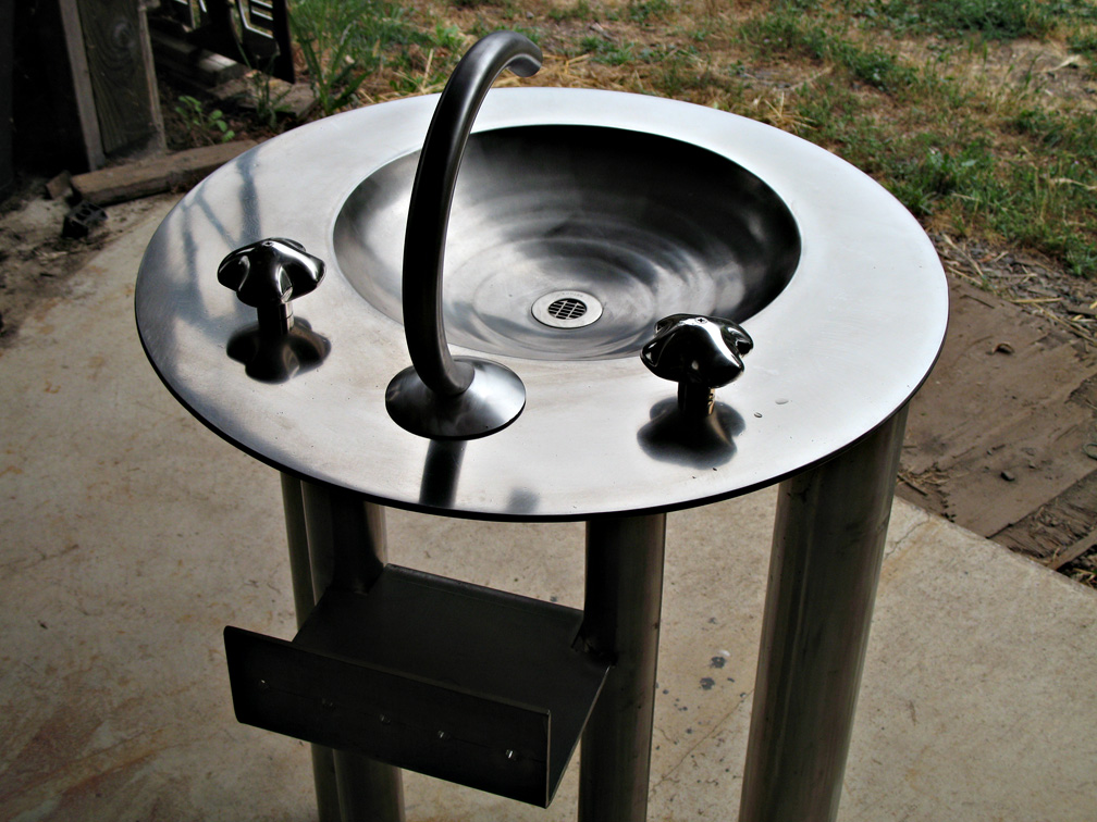 metal Unitised Sink
