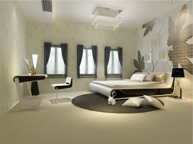 modern black and white bedroom limiless