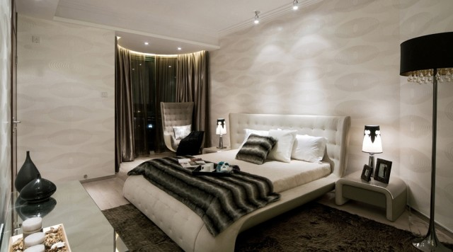 modern black and white bedroom limiless 2