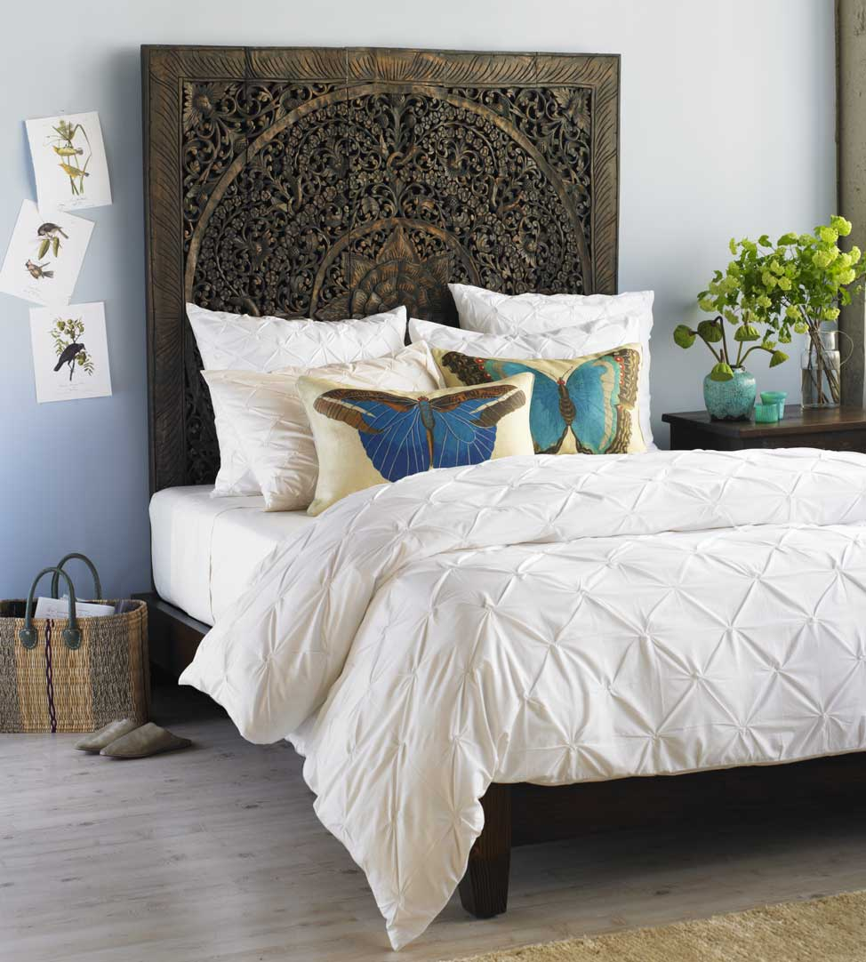 Cheap and DIY Headboards Ideas - Decoholic on Cheap Bed Ideas  id=19575