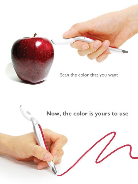 Magic Color Picker Pen by Jinsu Park