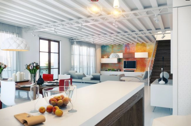 colorful loft interior design ideas
