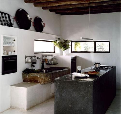 concrete rustic kitchen