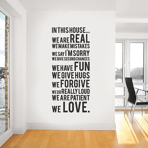 Funny and creative quotes decals for every room decoholic for Decor quotes