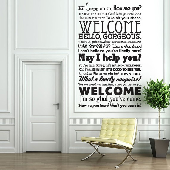 welcoming entrance decal