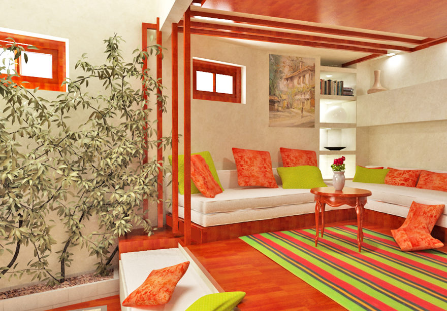 Modern traditional colorful house by gemelli design studio 4
