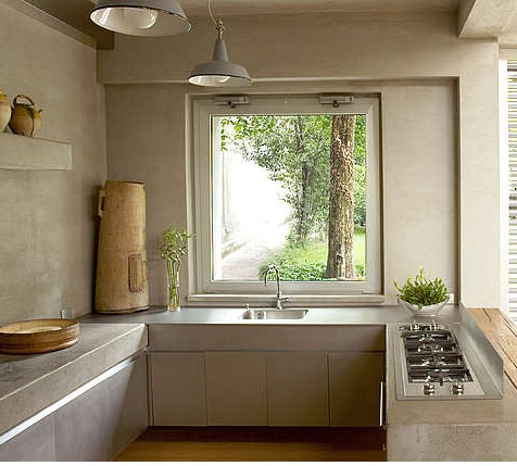 italian concrete kitchen by Arturo Montanelli