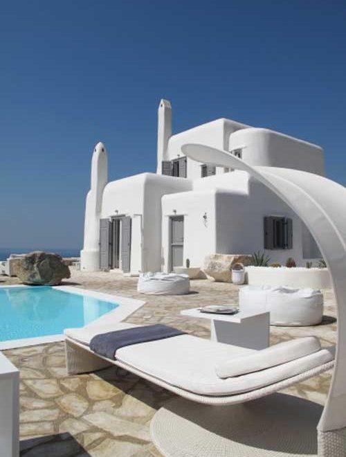 luxurious villa in mykonos interior design