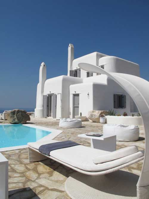 luxurious villa in mykonos interior design