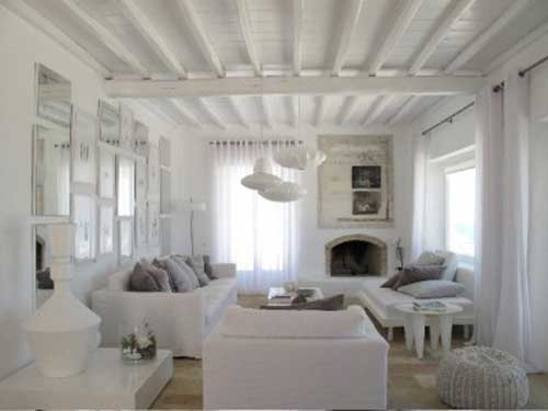 Luxurious villa in mykonos greece decoholic for Interior design villa style