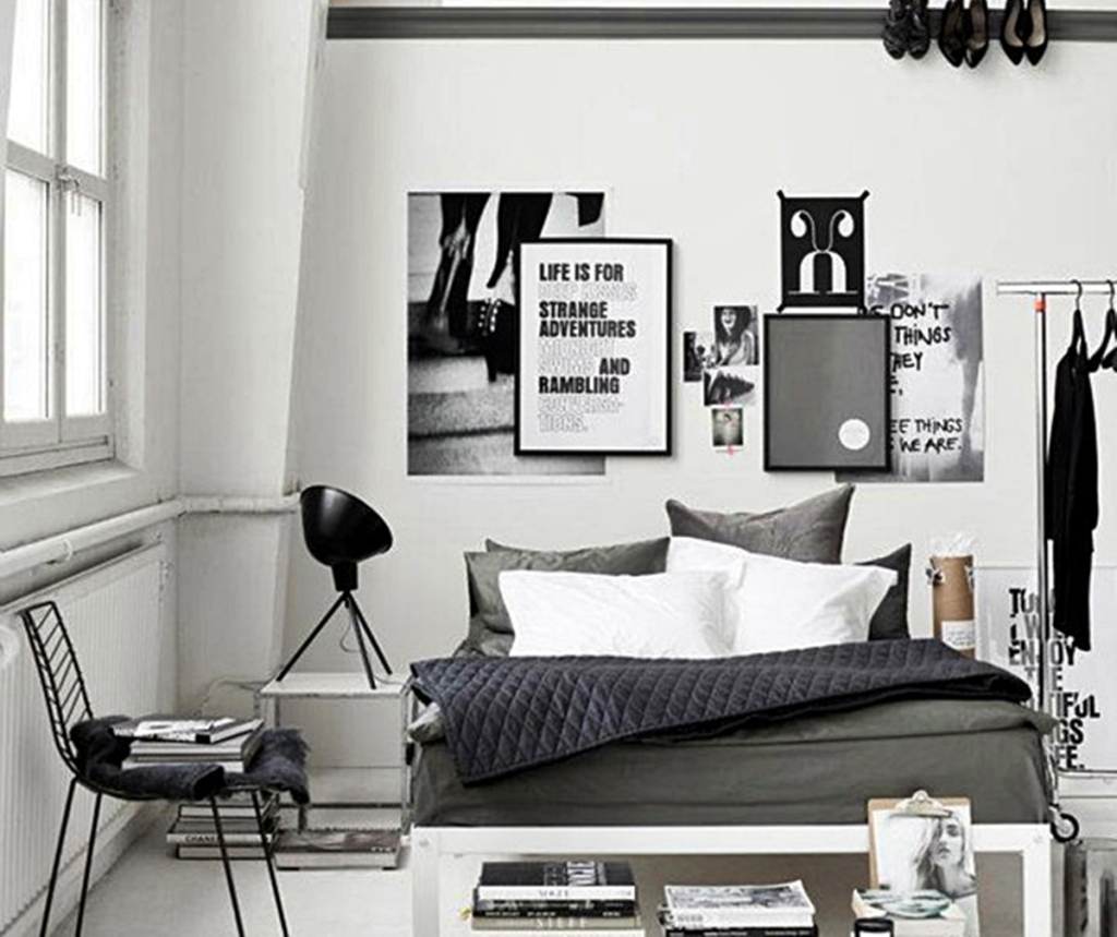 30 awesome modern bedroom decorating ideas designs for Black bedroom ideas pinterest