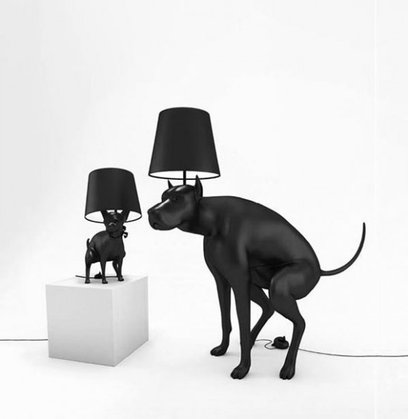 Unique Pooping Black Dog Lamps by Whatshisname