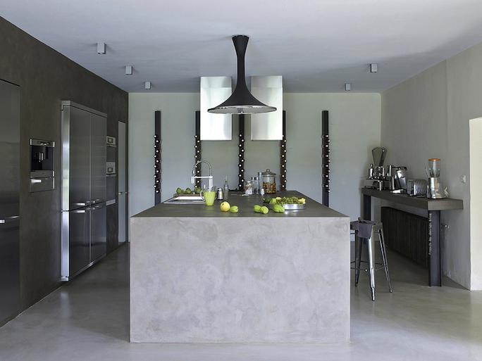total concrete kitchen