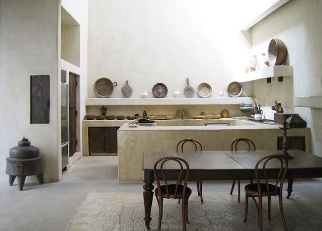 traditional concrete kitchen