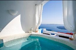 villa in greek island santorini